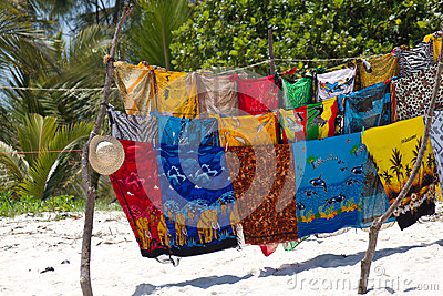 Beach stall on Diani Beach, Kenya