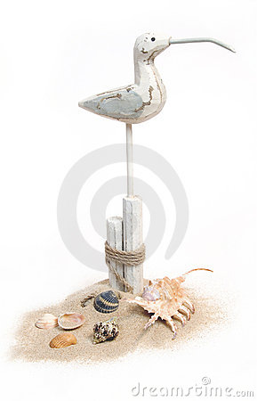 Free Beach Still-life With Seagull Royalty Free Stock Images - 10925899