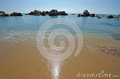 Beach  with stone