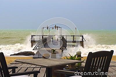 Beach stormy