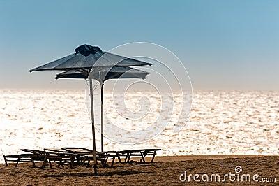 Beach with Sunbeds
