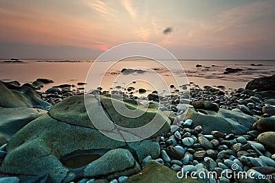 Beach and sunset