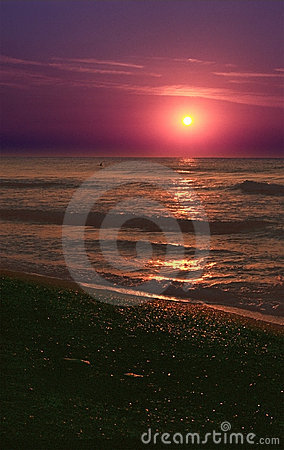 Beach Sunset on the Black Sea