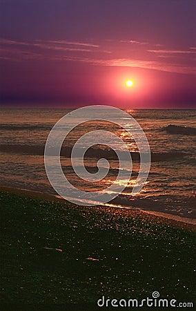 Beach Sunset on the Black Sea