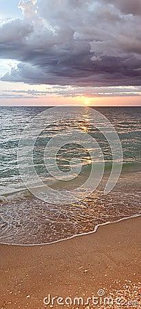 Beach sunset or sunrise