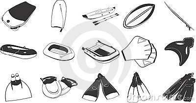 Beach and swimming items