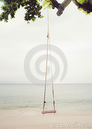 Free Beach Swing Stock Image - 75059841