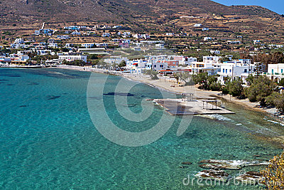 Beach at Syros island in Greece
