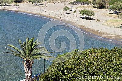 Beach at Syros island in Greece