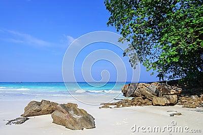 The beach at Tachai island, Thailand