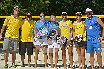 Beach Tennis World Team Championship 2014 Editorial Stock Image