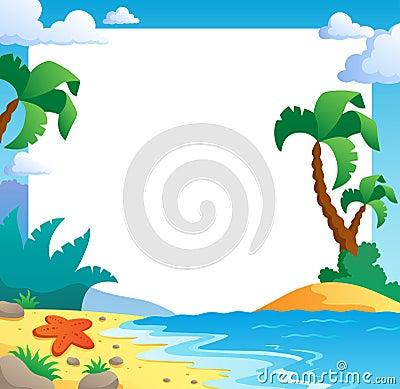 beach theme frame 1 royalty free stock photos image