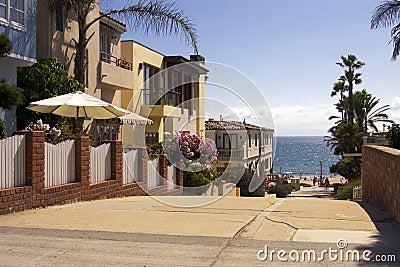 Beach town oceanfront homes