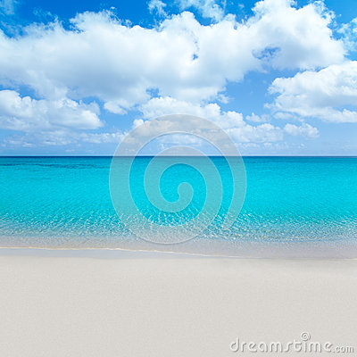 Beach tropical with white sand and turquoise wate