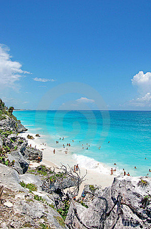 Beach at Tulum,Mexico