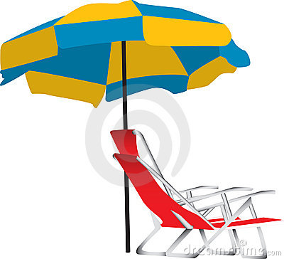 Free Beach Umbrella And Chair Royalty Free Stock Photography - 10886127