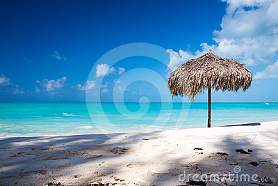 Beach Umbrella on a perfect white beach