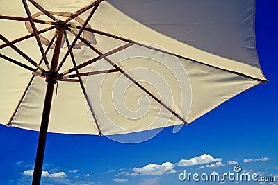 Beach umbrella on a sunny holiday day