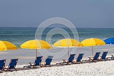 Beach Umbrellas And Chairs