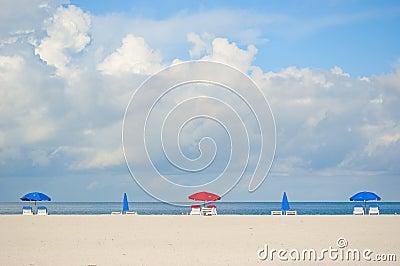 Beach umbrellas on Clearwater Beach