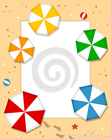 Beach Umbrellas Photo Frame