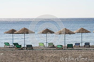 Beach Umbrellas in a Row