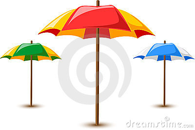 Beach umbrellas ,vector