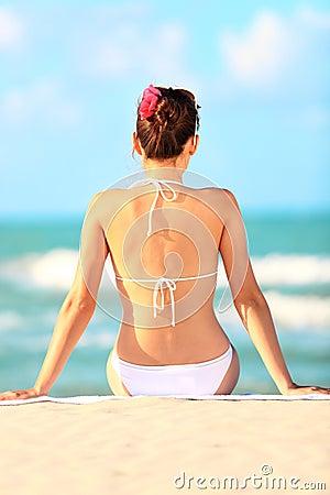 Beach vacation woman
