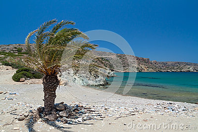 Beach Vai on Crete, Greece