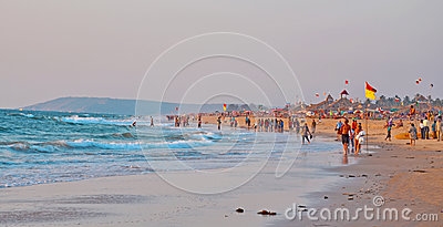 Beach view Editorial Stock Image
