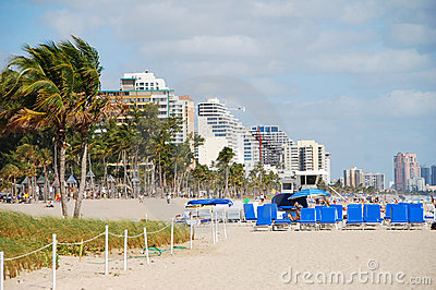 Beach view from Ft Lauderdale, Florida