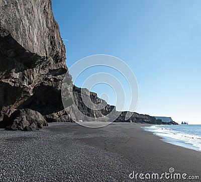 Beach of Vik in Iceland