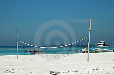 Beach volley ball net