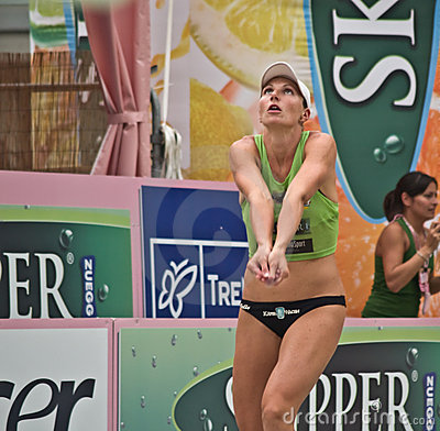 Free Beach Volley Player Stock Photo - 5729180