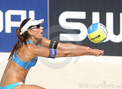 Beach Volley player Ana Paula Connelly Editorial Photo