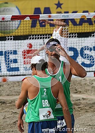 Beach Volley / Ricardo and Emanuel Editorial Photo