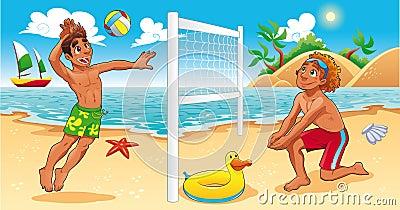 Beach Volley scene.