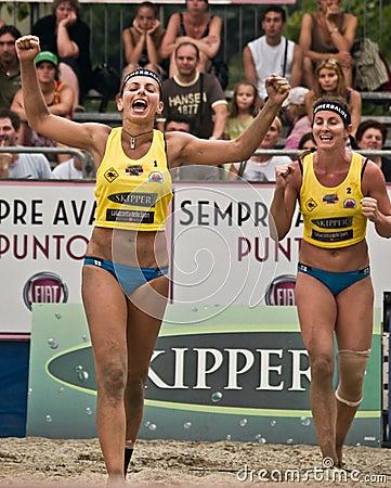 Free Beach Volley Team Winner Stock Photo - 5729290