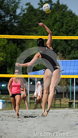 Beach volleyball competition Editorial Image