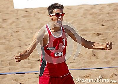 Beach Volleyball Man Canada Celebrate Editorial Stock Photo