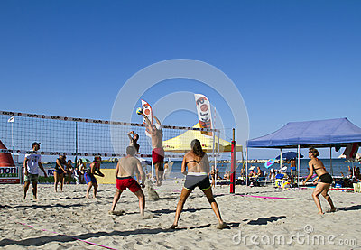 Beach volleyball Editorial Stock Image