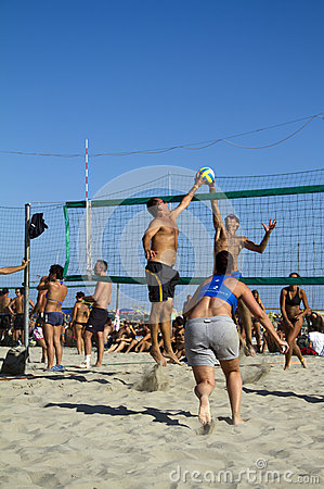 Beach volleyball Editorial Stock Photo