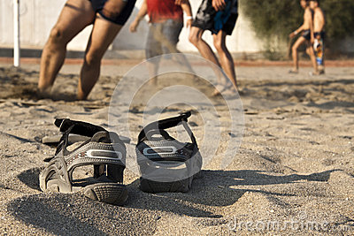 Beach volleyball, shoes