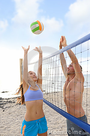 Free Beach Volleyball Sport People Playing Outside Stock Photo - 54283270