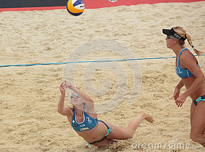 Beach Volleyball Swatch World Tour, Moscow Editorial Stock Photo