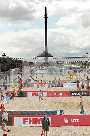 Beach Volleyball Swatch World Tour, Moscow Editorial Stock Image
