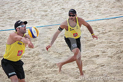 Beach Volleyball Swatch World Tour, Moscow Editorial Photography