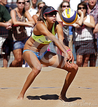 Beach Volleyball Woman Australia Ball Editorial Image