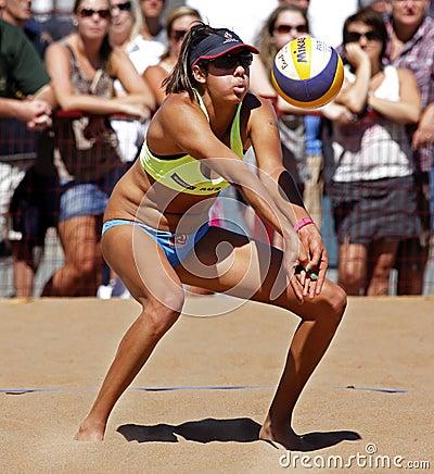 Beach Volleyball Woman Australia Ball Editorial Image