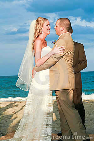 Beach Wedding: A Moment Before the Kiss
